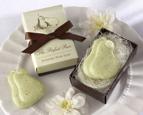 pair scented wedding soap