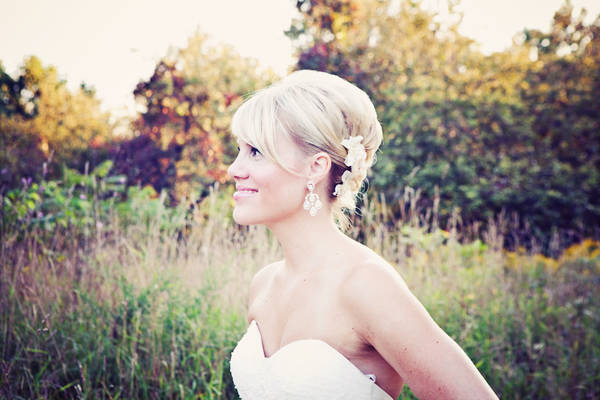 bride in profile