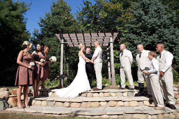 outdoor Michigan wedding ceremony