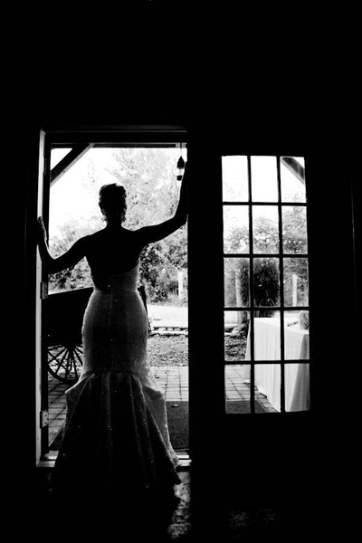 bride silhouette in doorway