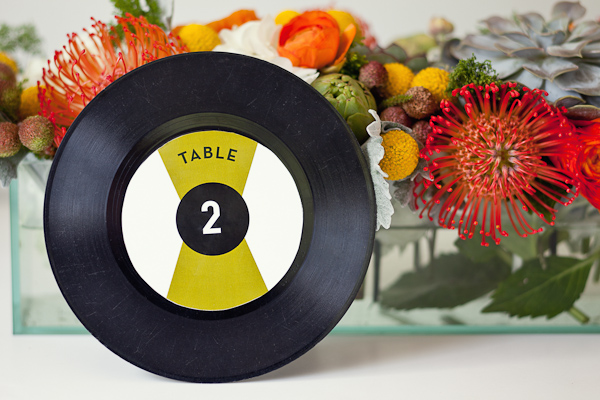 45 record as a wedding reception table number