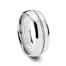 woven platinum ring