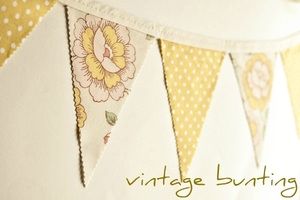 yellow floral bunting