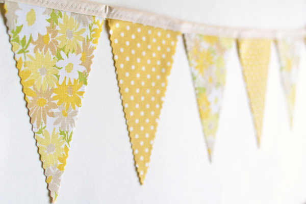 yellow vintage banner
