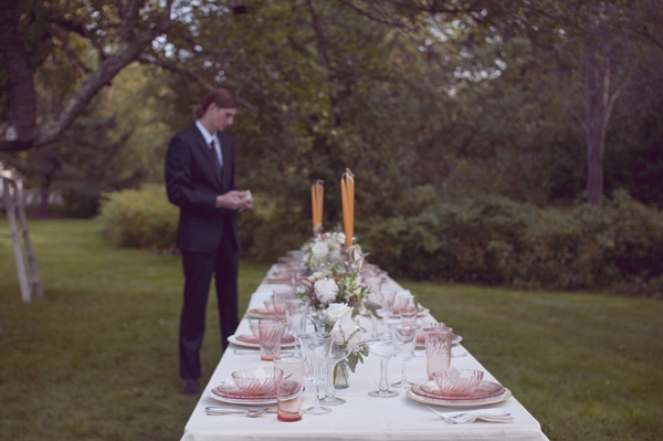long outdoor wedding table