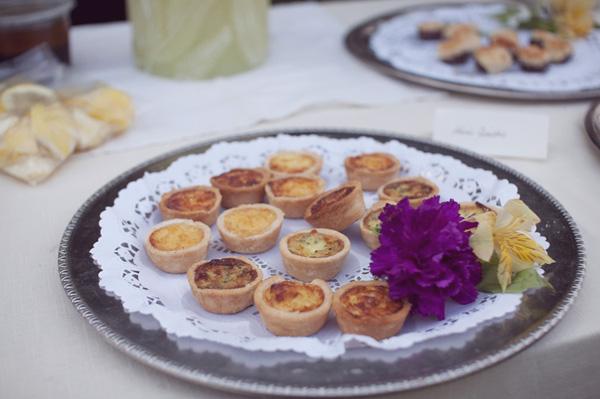 wedding mini quiches