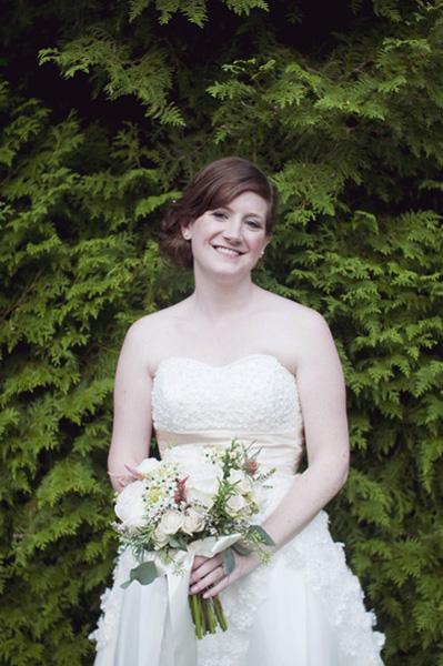 bride in vintage wedding dress