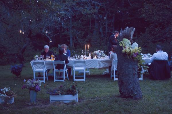 outdoor farmhouse wedding receptions