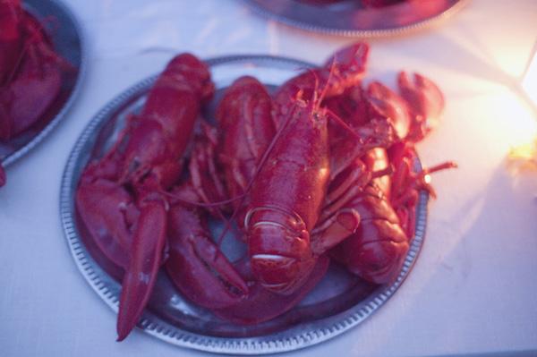 lobster dinner at wedding