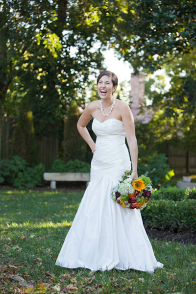 laughing bride portrait