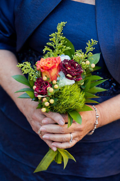 small mixed flower wedding bouquet