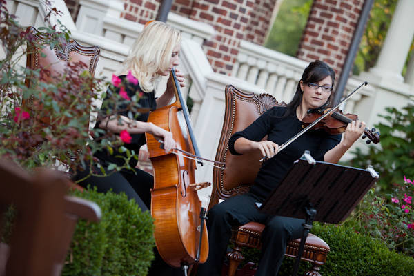 wedding cellist and violinist
