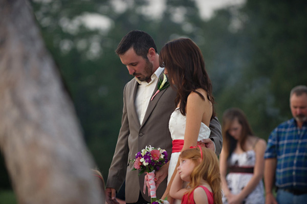 outdoor ranch wedding ceremony