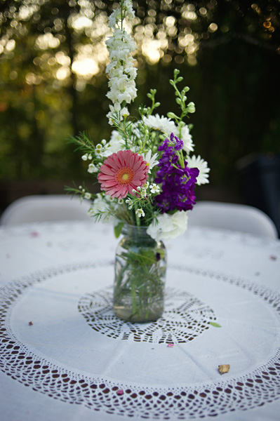 mason jar flower arrangement
