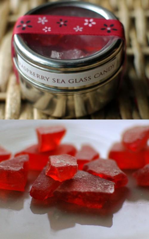 raspberry sea glass candy