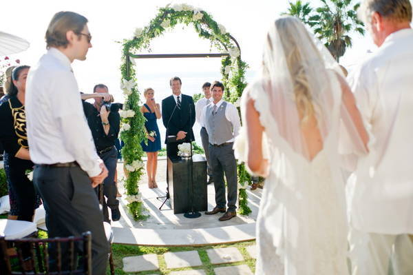 groom waiting at the altar for his bride
