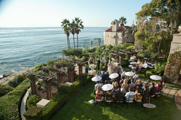 oceanfront La Jolla wedding ceremony