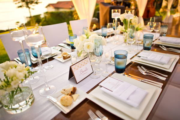 outdoor at-home wedding reception