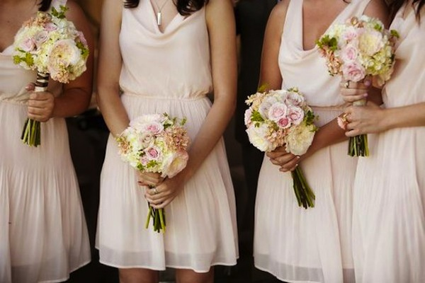 White bridesmaid dresses for Light colored wedding dresses