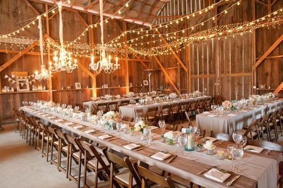 Your barn wedding venue is made of wood use open flames with caution