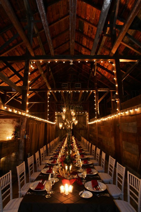 candles barn wedding