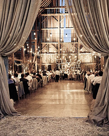drapery wedding barn