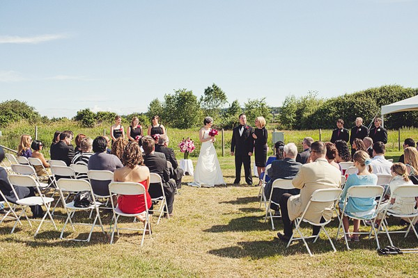 outdoor park wedding ceremony