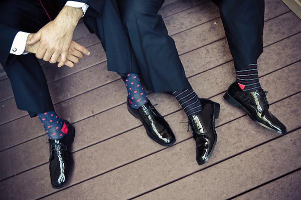 groom's polka dot socks