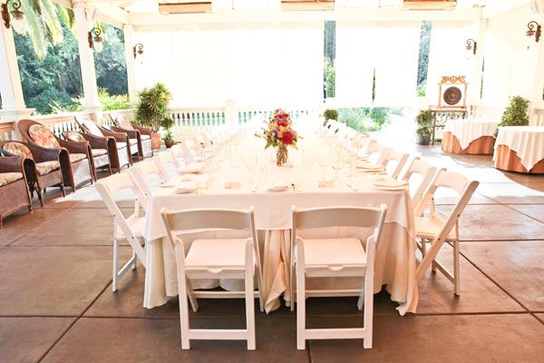 single long wedding reception table