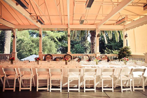 Madrona Manor wedding reception set-up