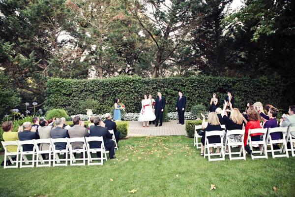 outdoor wedding ceremony at Madrona Manor