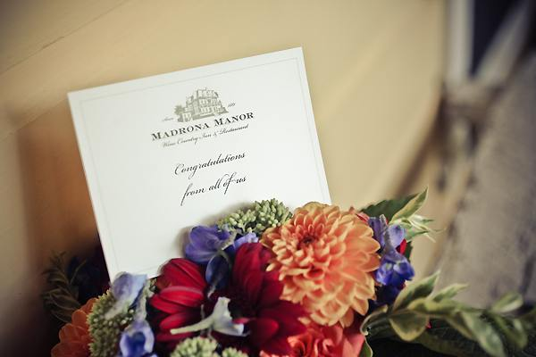 Madrona Manor congratulations card