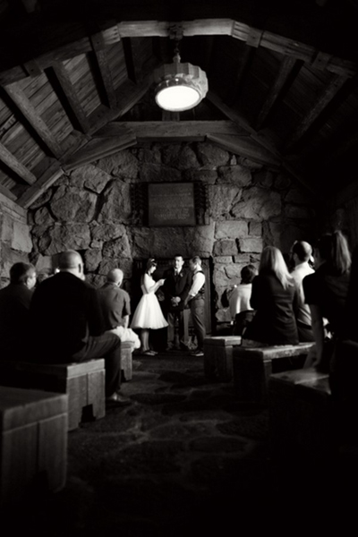 Oregon lodge wedding ceremony