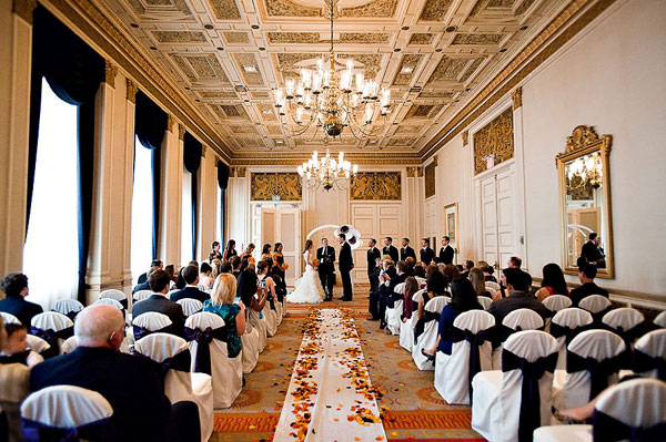 hotel ballroom wedding ceremony