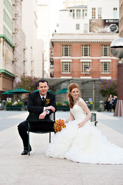 bride and groom in San Francisco