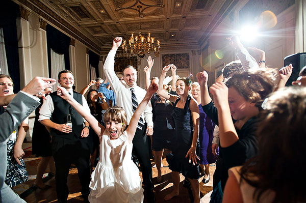 dance party at hotel wedding