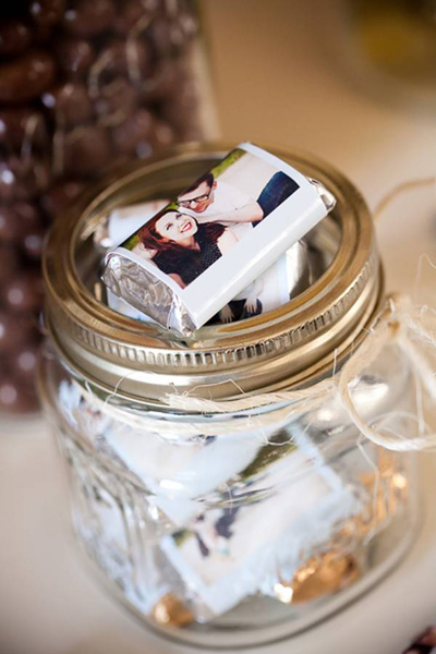 mini chocolate wedding favors
