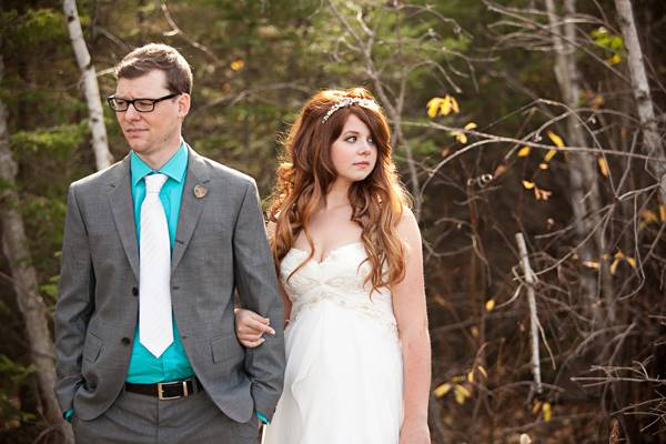 Intimate Manitoba Cabin wedding