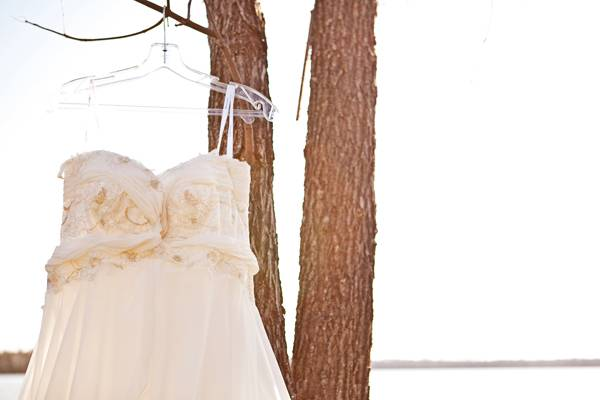 empire waisted wedding dress