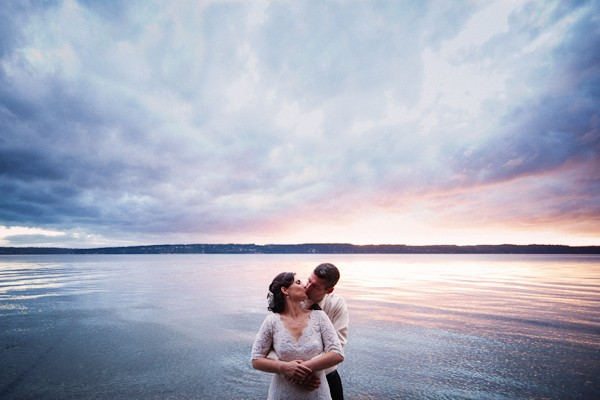 Cama Beach State Park wedding portrait