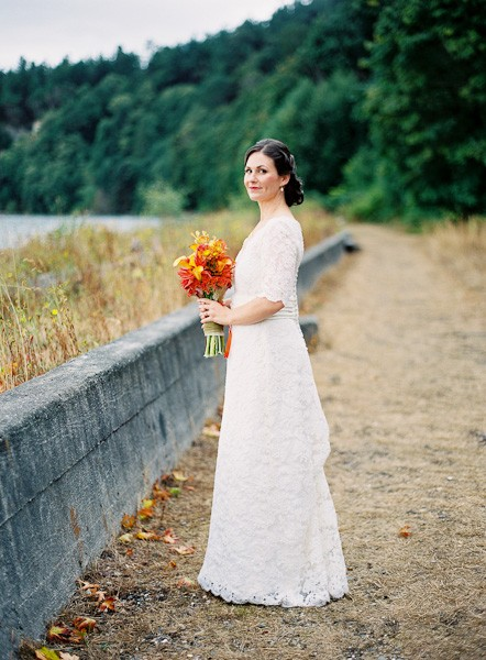 National Park bridal portrait