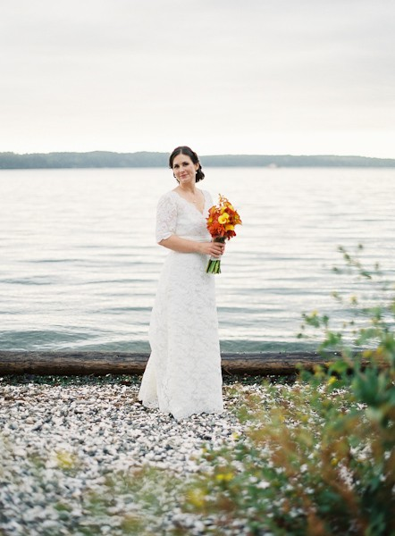 bridal portrait by the lake
