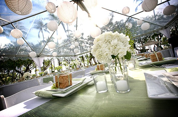 Outdoor wedding venues the clear tent for Outdoor party tent decorating ideas