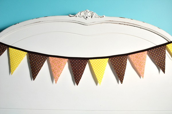 earthy wedding bunting