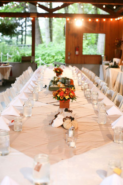 Rustic Fall Oregon Wedding reception