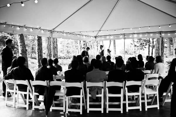 Rustic Fall Oregon Wedding ceremony