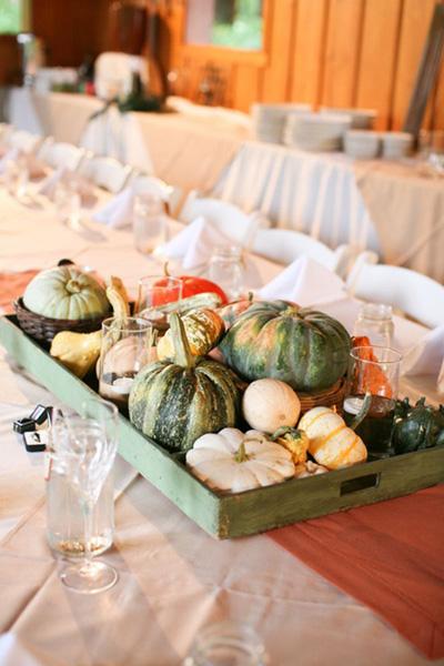 gourd centerpieces