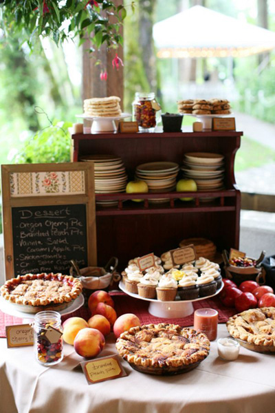 rustic fall sweet table