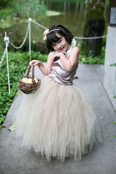 Flower girl tulle tutu