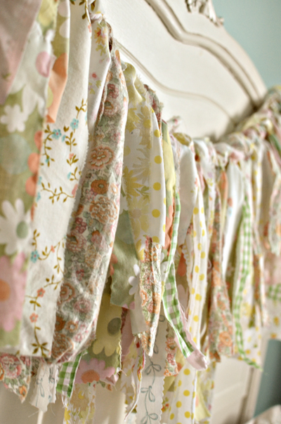 ribbon garland vintage